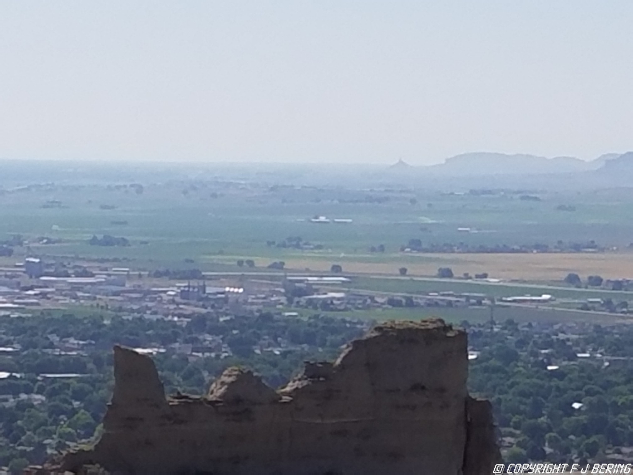 View from atop Scottsbluff
