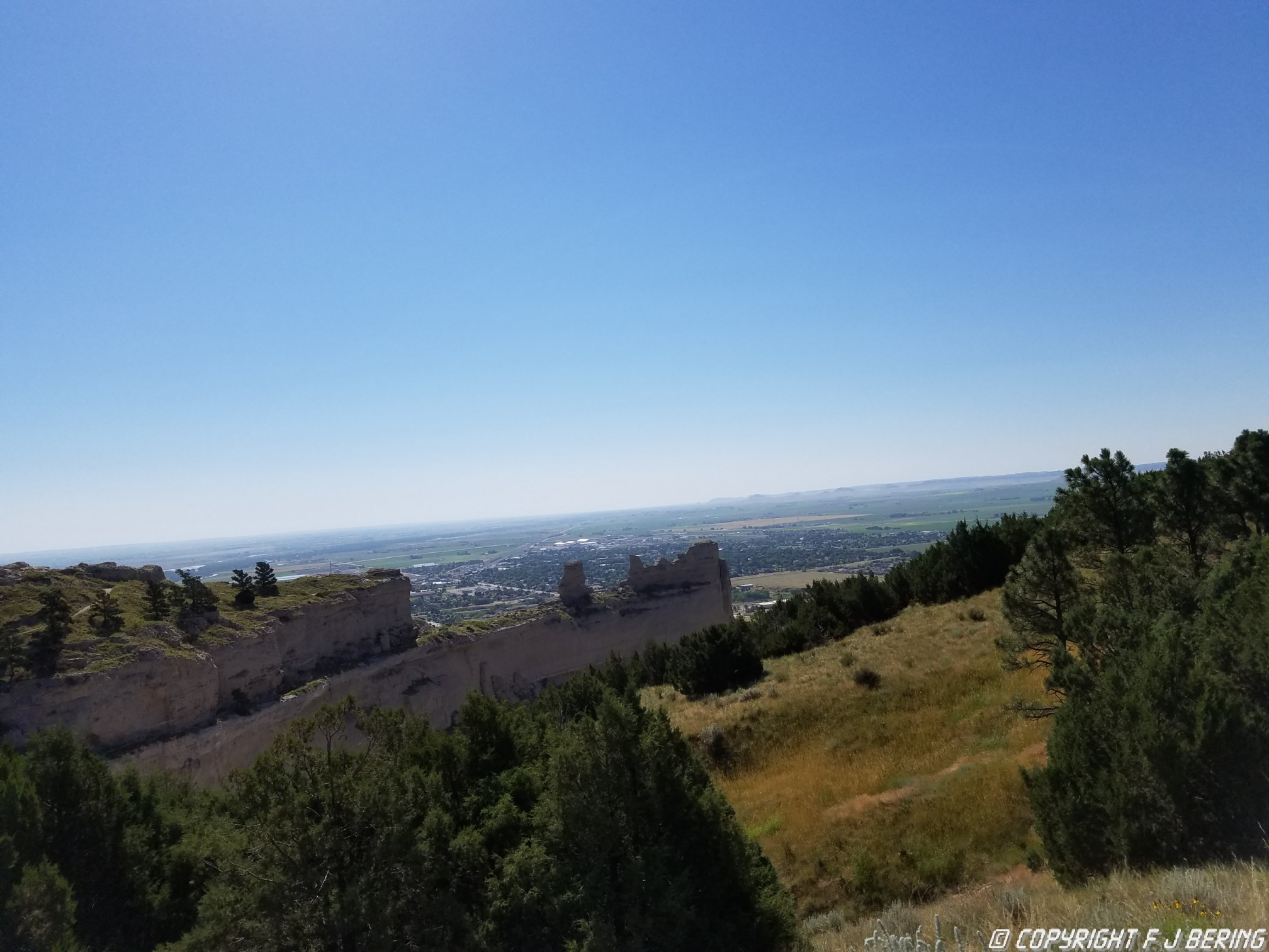 Atop Scottsbluff National Monument