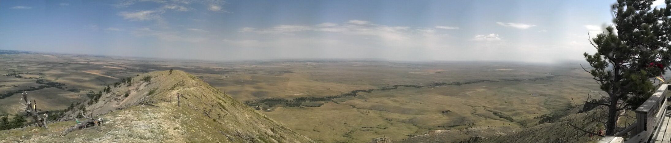 Panorama image from the summit of Bear Butte - looking from the North to East